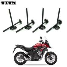 OTOM 8 Pcs Head Cylinder Intake Exhaust Valves Set For HONDA BMW CB500X CB500F T500GS CB500 Motorcycle Engines Parts