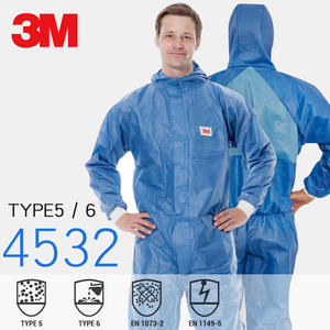 Protective-Clothing Coveralls Safety-Suit Hooded Dust-Proof Laboratory 3M 3m-Type 6 Breathable
