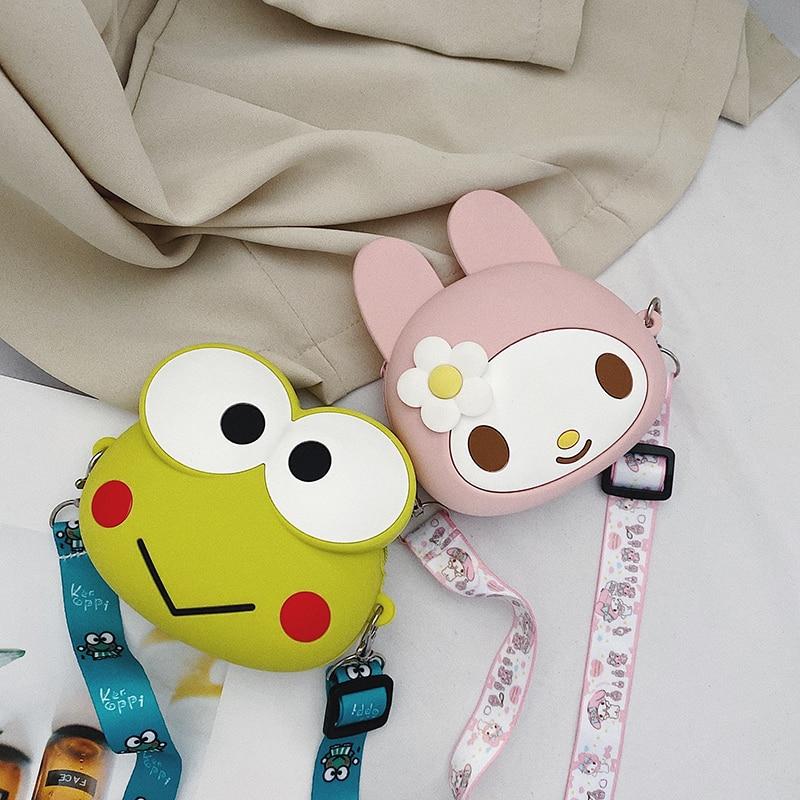 Baby Coin Purse Girl Messenger Bag Cute Shoulder Bag Accessories Small Bag Cartoon Chain Bag KT Pink Bag With Strap Mini Purse