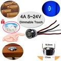 Сенсорный выключатель емкостный сенсорный модуль 5V-24V 4A светодиодный затемнения Управление лампы для активного отдыха Компоненты короткие...
