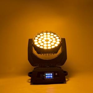Image 5 - 2 adet/grup LED yakınlaştırma yıkama 36x18W RGBWA + UV renk DMX sahne dokunmatik ekran LED hareketli kafa yıkama için iyi ışık DJ disko parti ve kulüpleri