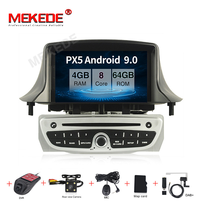 MEKEDE <font><b>2</b></font>+16G Android 9.0 Car <font><b>DVD</b></font> radio stereo Player for Renault <font><b>Megane</b></font> 3 Fluence 2009-2015 with audio radio <font><b>GPS</b></font> navigation BT image
