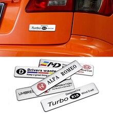 Алюминиевая 3d-наклейка на все автомобили, декоративная наклейка для заднего багажника, кузова, крыла, Mercedes-Benz, Lexus, Hyundai, Buick, Cadillac, Mazda