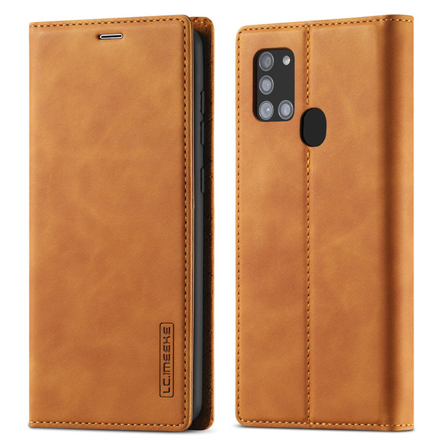 Luxury Case For Samsung Galaxy A21S Case Leather Flip Wallet Magnetic Card Bags Case Samsung Galaxy A21S Phone Cover Stand