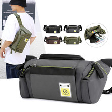 Waist Bags For Men Nylon Chest Bags Hip Bum Belt Bag Waterproof Fanny Pack Large Capacity Travel Crossbody Bag Male Pocket Purse