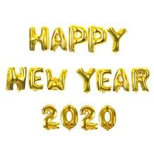 купить Happy New Year 2020 Gold/Sliver Foil Letter Balloons New Year Eve Party Decor Navidad 2019 Merry Christmas Balloon Decoration по цене 63.18 рублей