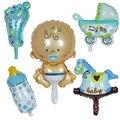 5 шт. Симпатичные воздушные шары из фольги для будущей матери, воздушные шары для маленьких мальчиков и девочек на 1-й день рождения, украшени...