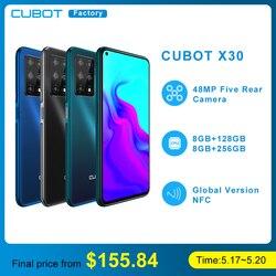 Чехол для CUBOT X30 мобильный смартфон 4g глобальная лента пять задний AI Камера 256GB смартфон Nfc 6,4