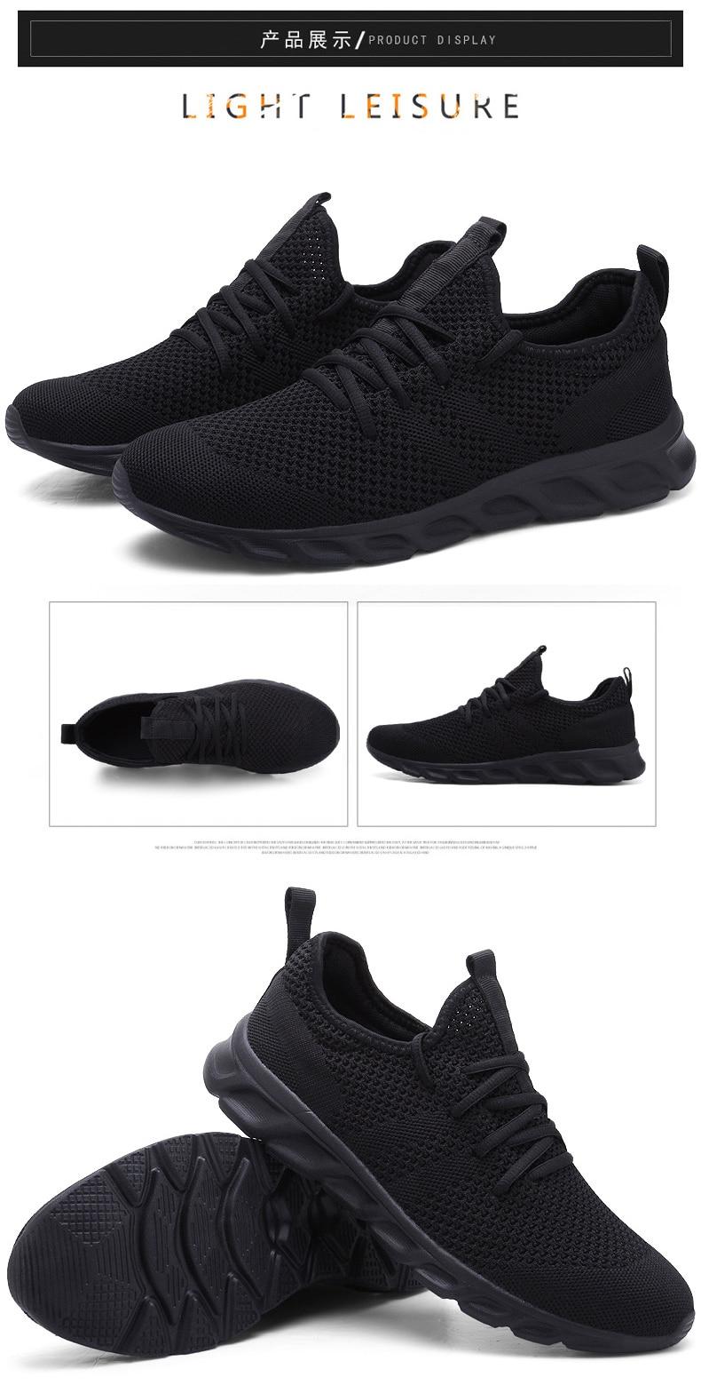 H9e252d112f9b434e9d3ccf0990e7ea81b Flyknit Men Shoes Light Sneakers Men Breathable Jogging Shoes for Men Rubber Tenis Masculino Adulto Plus 35 46 48