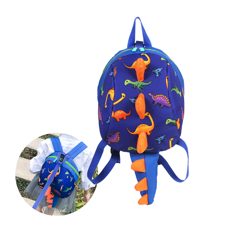 Cute Dinosaur Backpack Toddler Safety Harness Anti-Lost Kindergarten Baby Backpacks Bag 3-6 Years Old Travel Parent-Child Bags