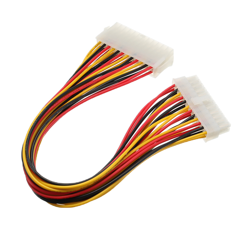 30cm ATX 24 Pin Male to 24 Pin Female Power Extension Cable For PC PSU TW