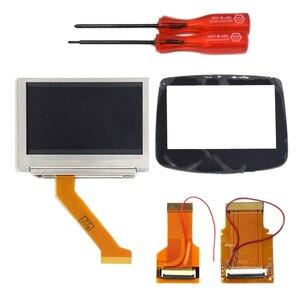 Комплект модной ЖК-подсветки 32 Pin + 40 Pin GBA SP AGS-101 с подсветкой Sn со стеклянной панелью объектива Sn для Gameboy Advance