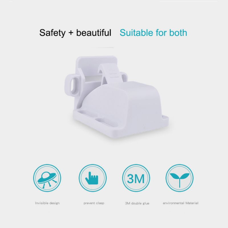 Child Safety Adhesive Cabinet Locks Children Proof Drawers Cupboard Baby Locks Latches For Cabinets