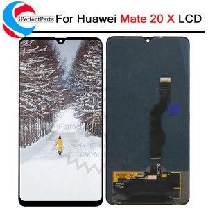 Image 1 - 新華為メイト 20X lcdディスプレイタッチスクリーンデジタイザアセンブリの交換部品huawei社メイト 20 × 7.2 液晶