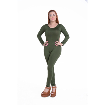 Sexy White O Neck New Bodycon Jumpsuit Long Women 2020 Fashion Pants Color New long sleeve Red Solid Black Wine Jumpsuits Romper 6