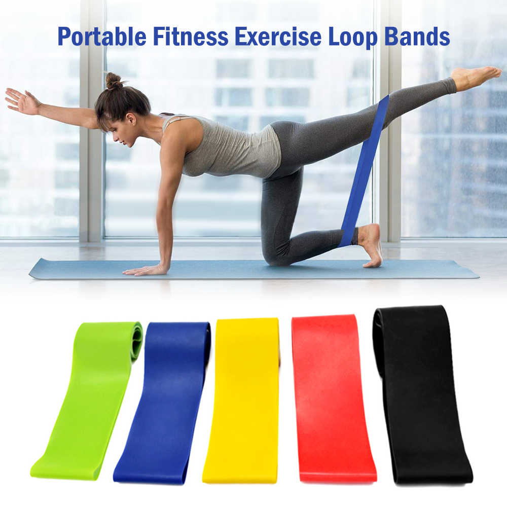 5 PCS Resistance Bands Set Elastic Bands Loop Booty Band Set for Fitness Yoga Home Gym Training Sports Exercise Workout