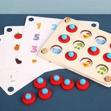 Montessori jouets jeu d'interaction pour Parent-enfant mémoire Match échecs populaire partie jeu en bois jouet éducatif pour les enfants