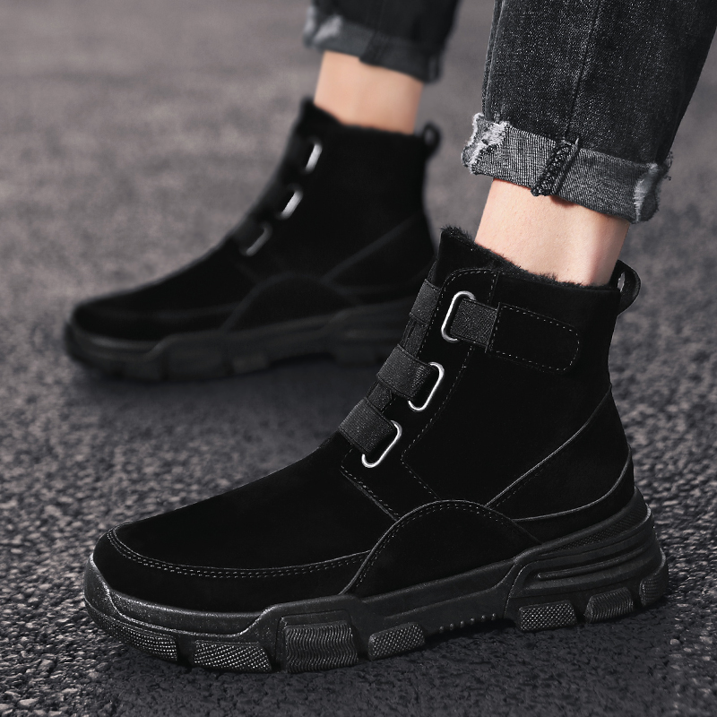 Snow Boots Men Winter Casual Shoes Ankle Boots Male Booties Lace-up Men Shoes High Quality Platform Shoes Botas Hombre Hot Sale
