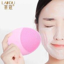 LAIKOU силиконовая щетка для очищения лица, электрическое очищающее средство для лица, электрическое очищающее средство для очищения кожи, Массажная щетка для глубокого мытья