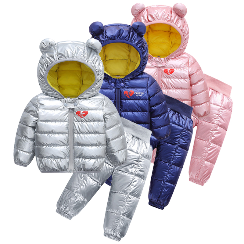 2018 New Children's Wear Down Cotton - Padded Jacket Baby Cotton Padded Jacket, Short Padded Jacket Christmas Jacke