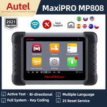 Autel maxipro mp808 ferramenta de verificação automática do carro scanner diagnóstico automotivo bluetooth teste ativo pk autel ap200 mk808 ds808