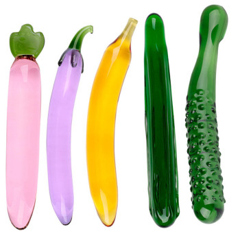 Pyrex Glass Dildo For Women Masturbation Sex Toy Fruit Vegetable Artificial Penis Anal Plug Sex Toy Tune Gays Sex Product super wild big black dildo to sex machine sex gun made from medical silicone for women demanding female sex product sex toy