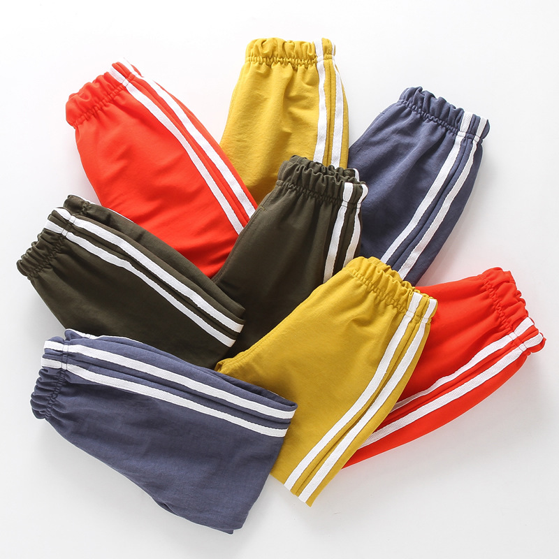 Korean version of casual pants children 39 s cotton and linen anti mosquito pants ultra thin breathable air conditioning pants in Pants from Mother amp Kids
