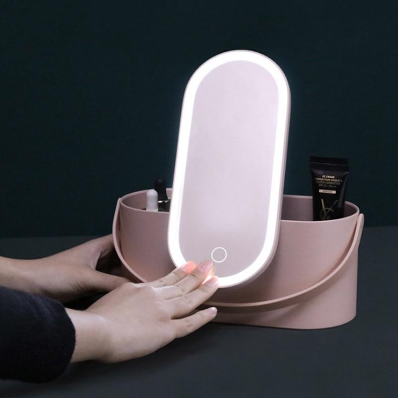 iluminado espelho capa viagem transportando casos