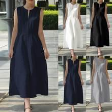 Celmia 2020 Women Maxi Long Dress Summer Sexy Sleeveless Casual V Neck Sundress Belt Loose Ankle-length Vestidos Robe Mujer 5XL