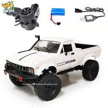 WPL – voitures télécommandées tout-terrain RC, échelle complète 1:16, camion militaire sur chenilles, Buggy électrique, Machine mobile
