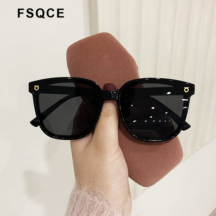 FSQCE Fashion Brand Designer Cat Eye Women Sunglasses Oversized Sun Glasses Cateye Vintage Female Eyewear Goggles