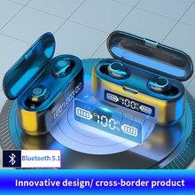Écouteurs sans fil Bluetooth V5.0 9D TWS, oreillettes de Sport étanches, Mini véritables, casques d'écoute pour Airpods