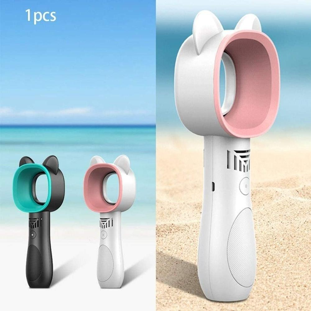 Usb Handhold Mini Fans Rechargeable Cooler Portable Leafless Small Fan Handheld Mini Cooler Leafless Air Cooling Fan Outdoor