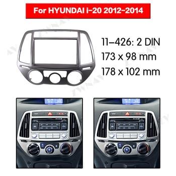 Radio Facia For HYUNDAI i-20 2012-2014 (Manual AC) 2DIN Bracket dvd player Fascia Car Stereo Radio Installtion Dash