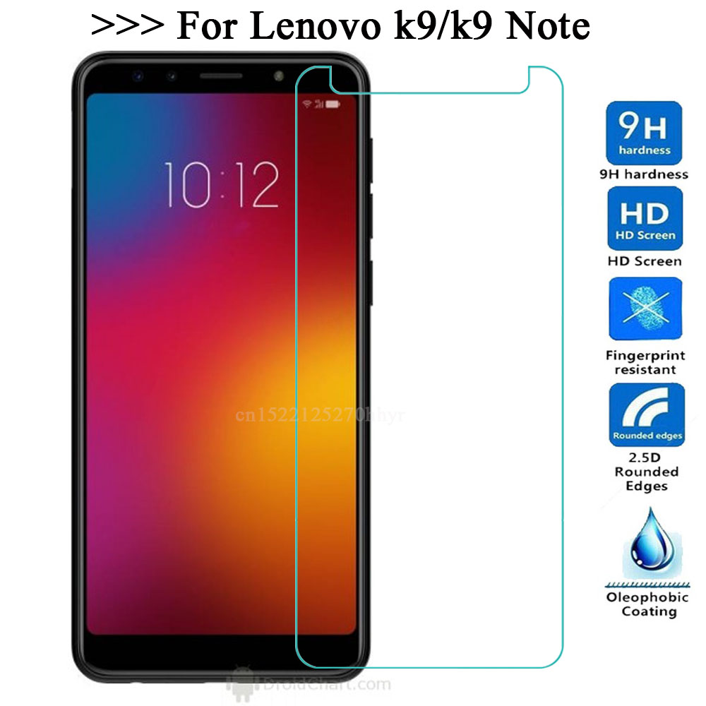 2.5D 9H Tempered Glass For Lenovo K9 Note Screen Protector 9H 2.5D Phone Protective Glass For Lenovo K9 Glass