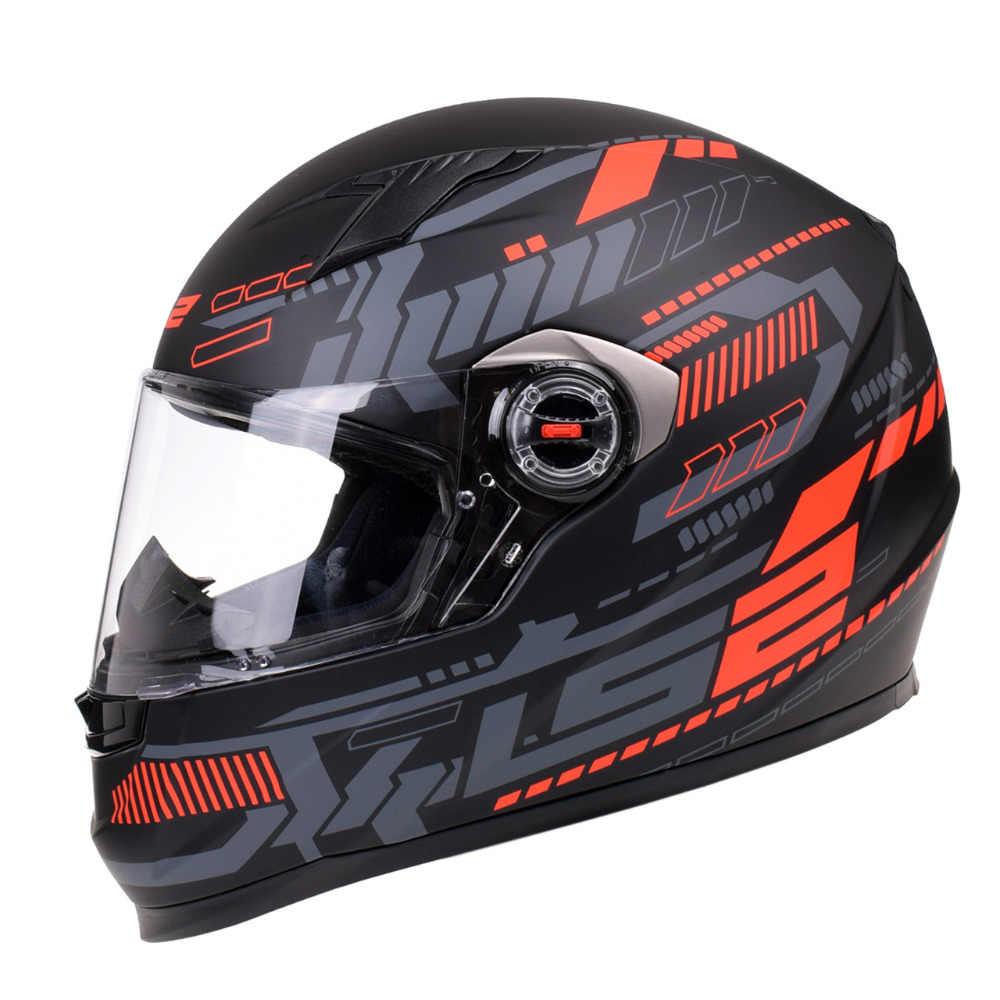 Original LS2 FF358 Rosto Cheio de Corridas Capacete Da Motocicleta Motorbike Helm Casco Capacete Kask Casque Moto Capacetes Para Benelli