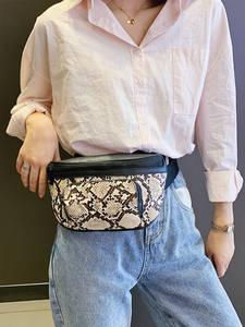 AIREEBAY Waist-Bag Fanny-Pack Serpentine Design Fashion Shoulder Small Women Ladies