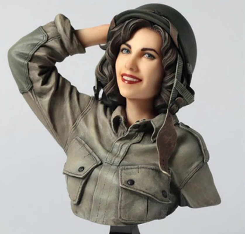 1/9 Resin Bust Model Kit  American Female Soldier Unpainted And  Unassembled Free Shipping