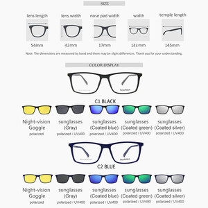 Image 2 - Bauhaus Polarized Sunglasses Men  5 In 1 Magnetic Clip On Glasses ULTEM Optical Prescription Eyewear Frames Eyeglass