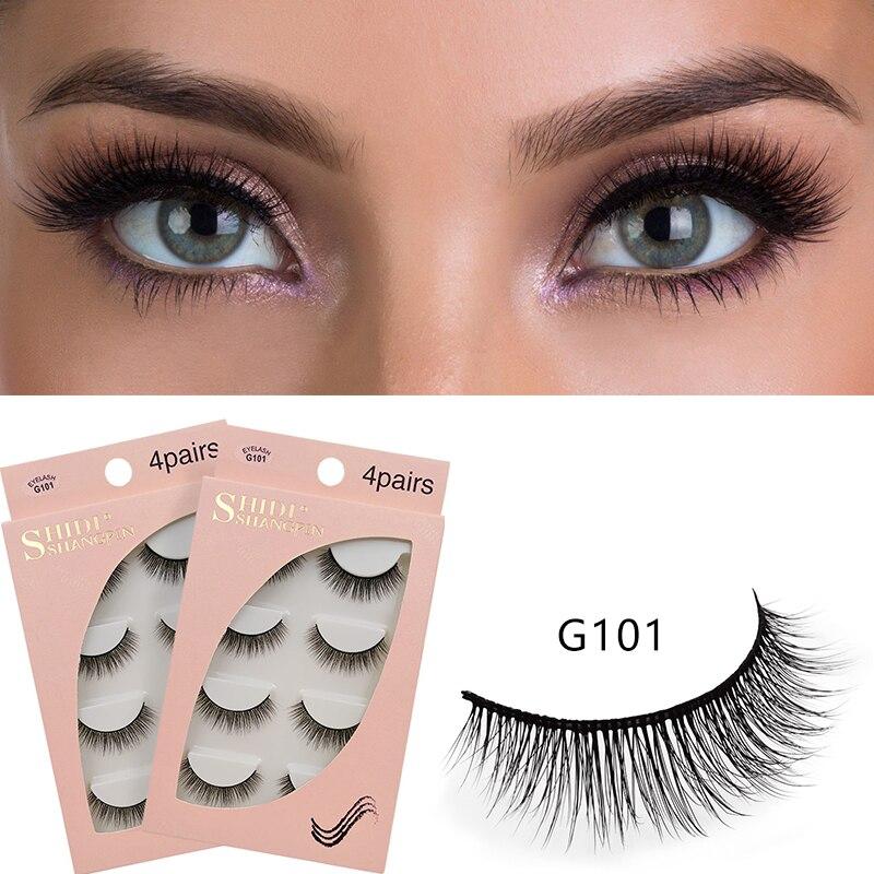 YSDO 4 Pairs False Lashes Natural Hair 3D Mink Lashes Long EyeLashes Thick Volume Mink Lashes MakeupLashes Dramatic EyeLashes