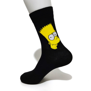 Image 5 - 10 Pairs/Pack Simpson family Funny Happy Cotton Couple Lovers Socks Black Mid High Cute Socks for Men and Women Socks College