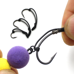 10PCS Carp Fishing Accessories Hook Sleeves Ready D-rig Line Aligner Hair Rigs Zig Rig Terminal Tackle Connect Pop Up Boilies
