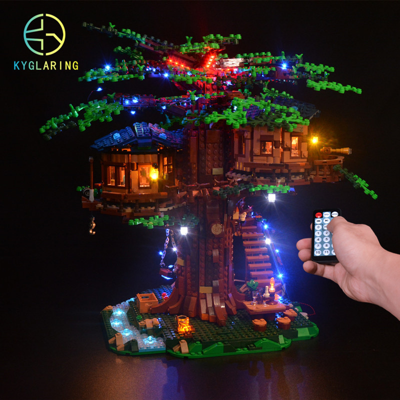 Kyglaring LED light  kit  for LEGO ideas 21318  treehouse   the block building not included