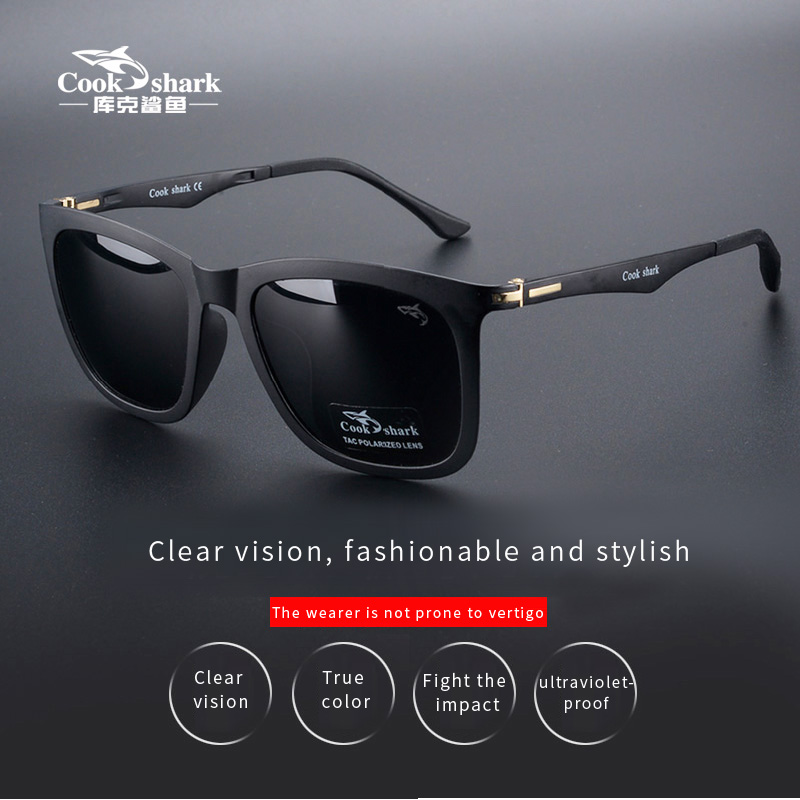 Cookshark sunglasses male and female polarized sunglasses tide ultra light driver driving glasses