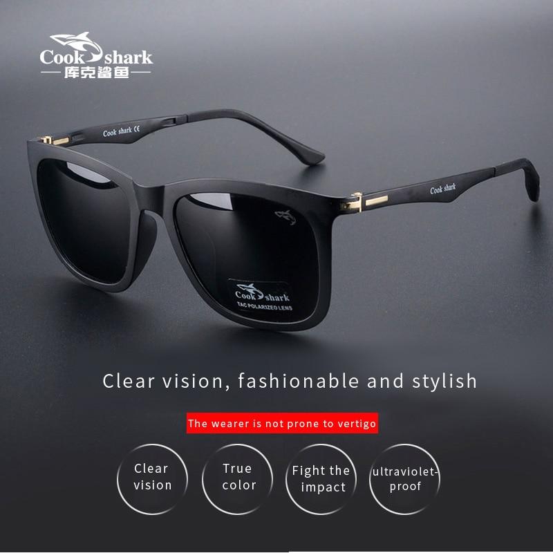 Cookshark солнцезащитные очки мужские и женские поляризационные солнцезащитные очки Ультрамодный светильник очки для вождения|Мужские солнцезащитные очки|   | АлиЭкспресс