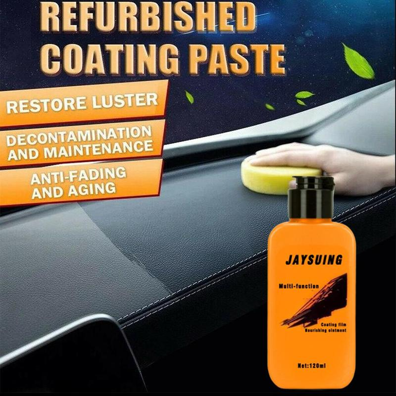 Car Auto Leather Renovated Coating Paste Car Leather Retreading Agent Maintenance Agent Dashboard Plastic Polishing