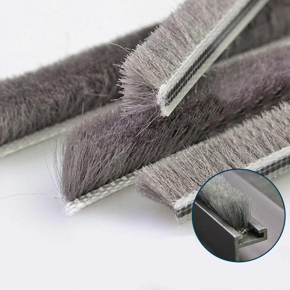 Hairy Door Window Brush Draught Excluders Pile Seal Draft Seal Strip Soundproof For Cabinets And Wardrobes