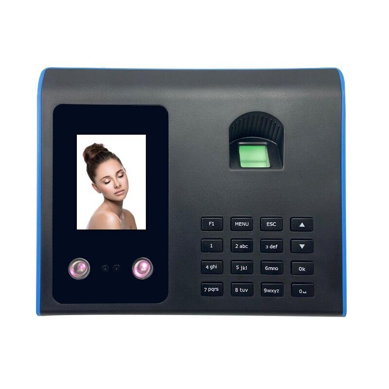 Time record biometric facial time attendance machine fingerprint door access checking in LCD display for spain/Saudi Arabia
