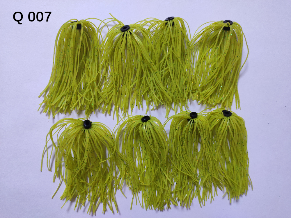 8 Bundles 50 Strands Silicone Skirts Wire Fishing Accessories For Buzzbait SpinnerBait Jig Bass Lure Q 007