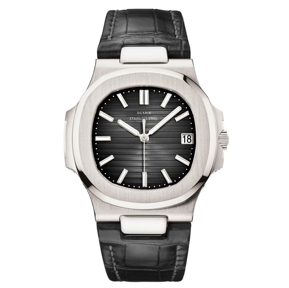 Famous Men Automatic Watch Genuine Leather pp luminous mechanical watch men Nautilus AAA Top Brand Luxury Men Wrist patek watch(China)
